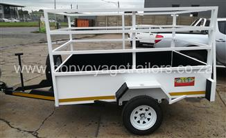 UTILITY TRAILER WITH HIGH RAILS FOR SALE