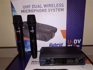 Hybrid U-DV Cordless Mic Dual