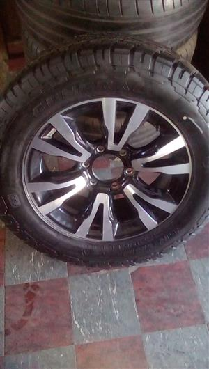 18 inch Isuzu mag with 255/60/18 brand new tyre 3599.