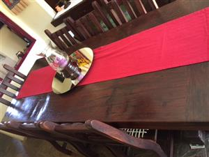 8 SEATER RAILWAY SLEEPER DINING SET INCL SIDE BOARD