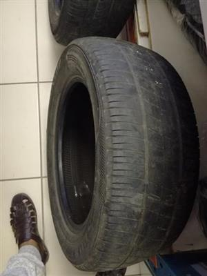 Three 15 inch tyres for sale