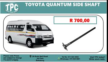Toyota Quantum Side Shaft - For Sale at TPC