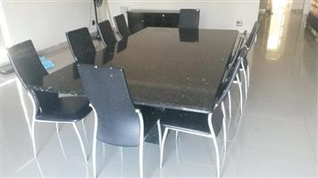 10 Seater marble top dining set for sale