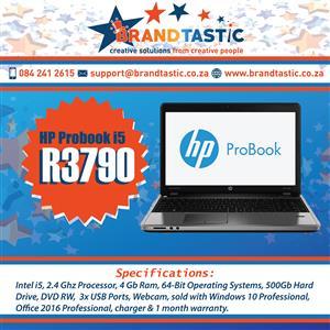 High Spec HP ProBook i5 Laptop @ R3790