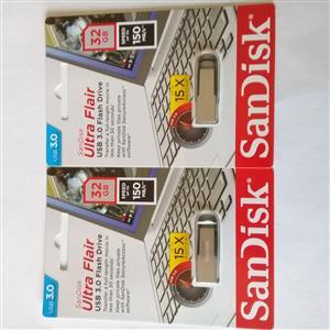 SANDISK ULTRA FLAIR METAL 32GB USB 3.0 FLASH DRIVE (TWIN PACK)