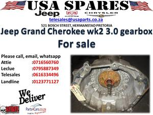 JEEP GRAND CHEROKEE WK2 3.0 USED GEARBOX FOR SALE
