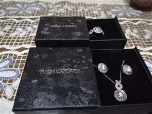 Ring, earring and necklace set