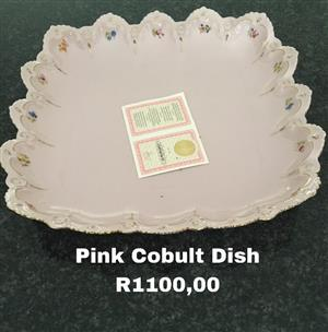 Pink cobult dish for sale