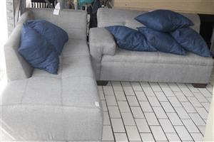 L-shaped couch S036639A #Rosettenvillepawnshop