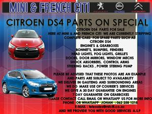 WE ARE  STRIPPING    COMPLETE CARS FOR SPARE PARTS SUCH AS    CITROEN DS4