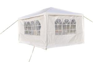 Gazebo Folding Tent Marquee with Side Walls 3 x 4m - Green and Blue