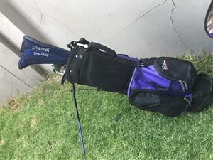 Spalding and focus golf set plus golf bag