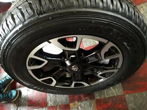 "18"" Toyota Legend 50 rims and tyres"