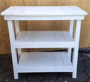Compactum Cottage series 950 3 Tier Change-over table white washed