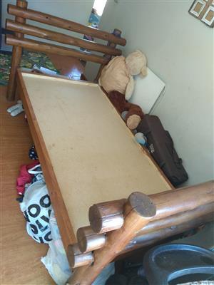 Single base bed frame for sale