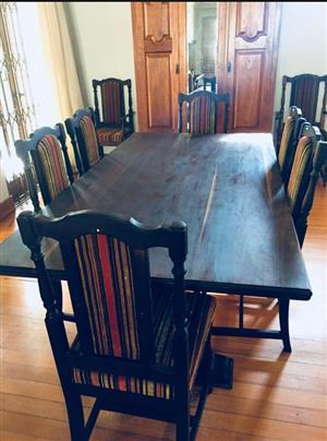 Adam Bede Dining table and chairs