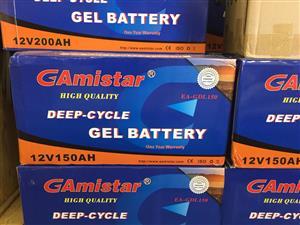 GAMISTAR DEEP-CYCLE GEL BATTERY'S  GAMISTAR