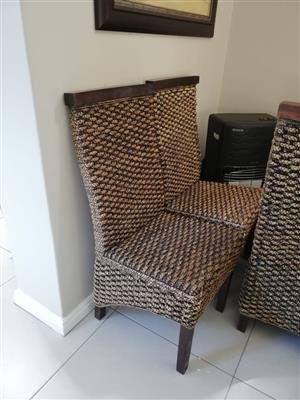 Weaved Molina Dining chairs x8