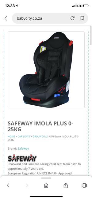 Safeway imola plus car Seat