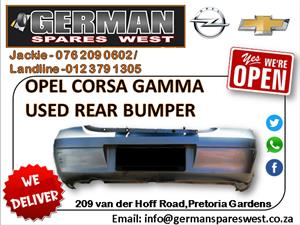 OPEL CORSA GAMMA USED REAR BUMPER FOR SALE