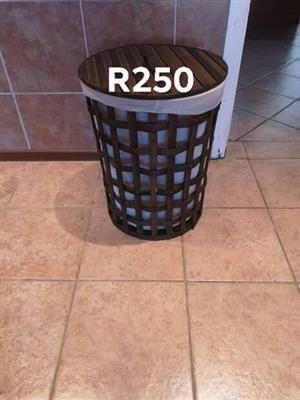 Wooden laundry basket for sale
