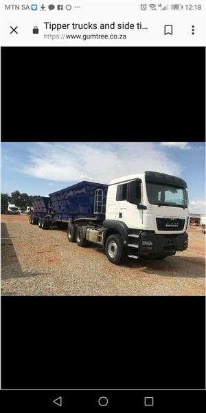 34 SIDE TIPPER TRUCK WANTED ASAP FOR MINING PROJECT