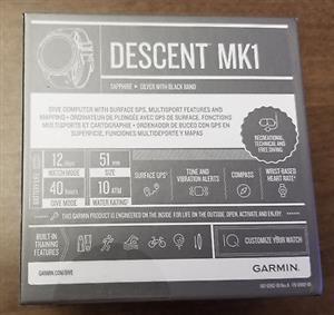 Garmin Descent Mk1 Sapphire Silver GPS Band Diving Watch