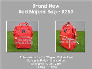 Brand New Red Nappy Bag