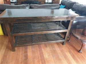 Butcher block / entrance table