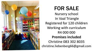 Nursery School for sale in the Vaal Triangle