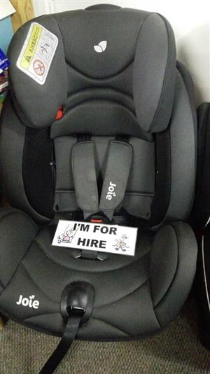 Baby equipment hiring services