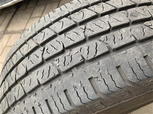 Continental 265/60R18 tyres x 4