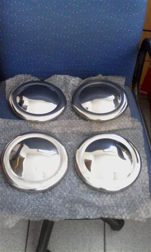 Mini chrome hubcaps