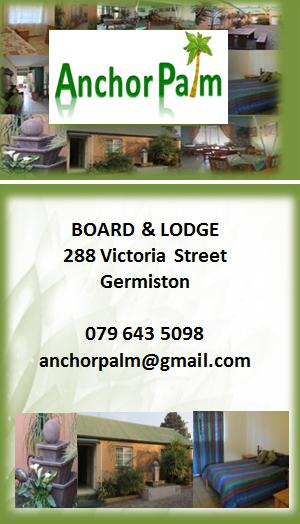 Accommodation in Germiston - Single and Double Furnished Room Including Meals