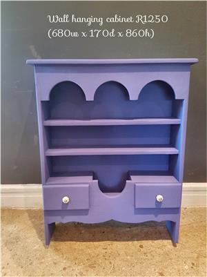 Purple wall hanging cabinet