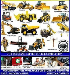 Workshop courses Trade test Mining short courses 777 dump truck drill rig LHD CO2 welding plumbing course Thabazimbi