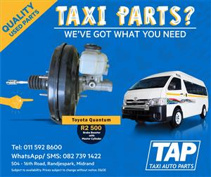 Toyota Quantum Brake Booster with Master Cylinder - Taxi Auto Parts quality used spares - TAP