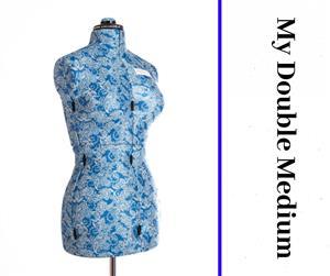 My Double Medium Floral Form - Adjustable Dressmaker Doll / Mannequin / Sewing Doll