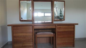 Solid cherry wood dressing table