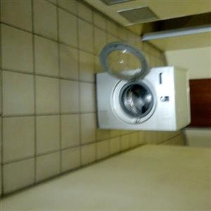 Samsung silver tumble dryer for