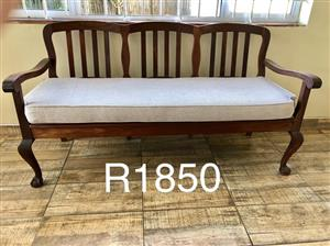 Beautiful solid wood bench