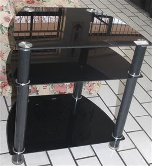 Black glass tv stand S045285D #Rosettenvillepawnshop