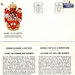 Commemorative Stamp & Envelope Set - City Hall of Port Elizabeth 1985