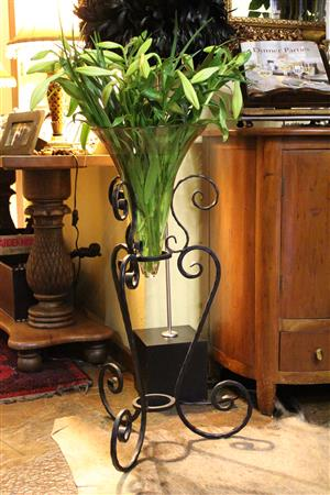 Beautiful Metal and Cone Glass Flower vases / wine coolers
