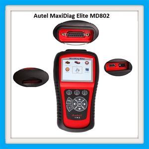 Autel MaxiDiag Elite MD802 OBD2 Scanner Car Diagnostic Tool Code Reader ABS Airbag Engine EPB Automotive OBD2 Code Reader