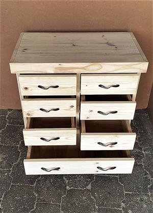 Chest of drawers Farmhouse series 0870 with 7 drawers - Raw