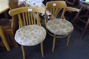 Wooden Chairs with Cushions