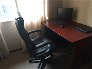 Office chair and work desk