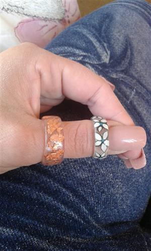 Custom made Acrylic Rings and Press-On Nails