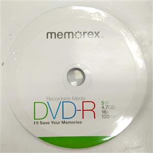 Memorex DVD-R Recordable DVD 5 x 15 Pack